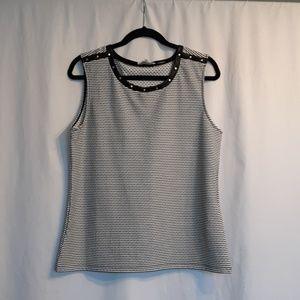 Calvin Klein tank black and white stripes large